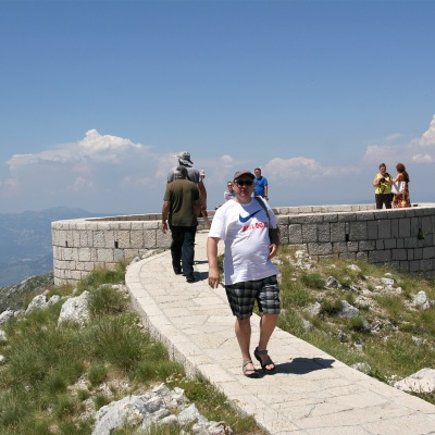 Niegosh Mausoleum - Lovćen National Park - from this place You can see all the Montenegro