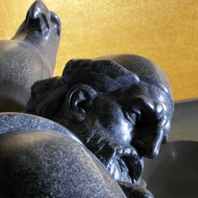 Niegosh Mausoleum - Lovćen National Park - statue of Peter II Petrovic Niegosh
